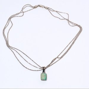 Turquoise Sterling Multistrand Collar Necklace